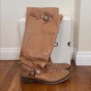 ALDO brown leather riding boots size 10